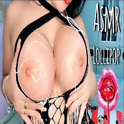 ASMR safada dos peitões mamando e chupando pirulito para você gozar
